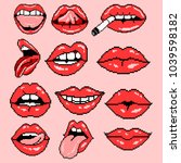 vector set illustration sexy... | Shutterstock .eps vector #1039598182