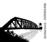 silhouette vector of bridge... | Shutterstock .eps vector #1039601968