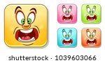 scared and screaming emoji.... | Shutterstock .eps vector #1039603066