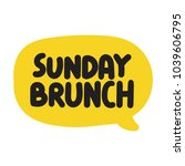 sunday brunch. vector hand... | Shutterstock .eps vector #1039606795