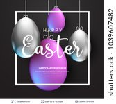 easter background template.... | Shutterstock .eps vector #1039607482