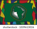 an african union stained glass... | Shutterstock .eps vector #1039613026