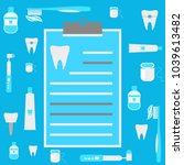 dentistry banner with flat... | Shutterstock .eps vector #1039613482