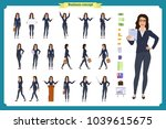 ready to use character set.... | Shutterstock .eps vector #1039615675