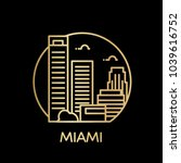 miami city icon. vector... | Shutterstock .eps vector #1039616752