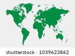world map vector.   Shutterstock .eps vector #1039623862
