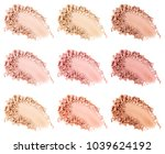 face powder. smears of... | Shutterstock . vector #1039624192