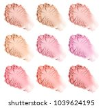 face powder. smears of... | Shutterstock . vector #1039624195
