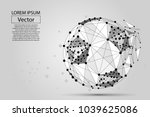 abstract line and point soccer...   Shutterstock .eps vector #1039625086