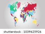 world map vector.   Shutterstock .eps vector #1039625926
