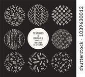 hand drawn winter holidays... | Shutterstock .eps vector #1039630012