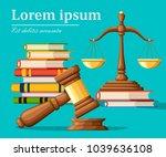 concept justice in cartoon... | Shutterstock .eps vector #1039636108