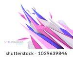 pink spikes shape scene vector... | Shutterstock .eps vector #1039639846