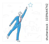 businessman reaching out the... | Shutterstock .eps vector #1039644742