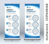 roll up banner design template  ... | Shutterstock .eps vector #1039648468