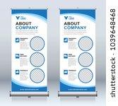 roll up banner design template  ... | Shutterstock .eps vector #1039648468