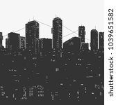 vector illustration the urban... | Shutterstock .eps vector #1039651582