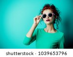 portrait of a beautiful young... | Shutterstock . vector #1039653796
