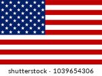 american flag. vector image of... | Shutterstock . vector #1039654306