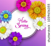 colorful spring background with ... | Shutterstock .eps vector #1039656355