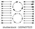hipster arrows. arrows in boho... | Shutterstock .eps vector #1039657525