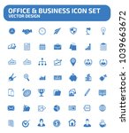 office and business vector icon ... | Shutterstock .eps vector #1039663672