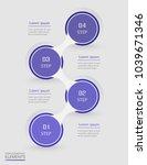 infographic design element for... | Shutterstock .eps vector #1039671346