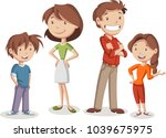 colorful happy people. cartoon... | Shutterstock .eps vector #1039675975