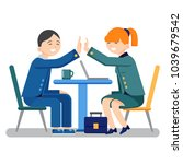 young business man and woman... | Shutterstock .eps vector #1039679542