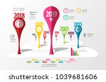 colorful vector timeline laout. ...   Shutterstock .eps vector #1039681606