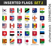 all flags of the world set 1 .... | Shutterstock .eps vector #1039681906