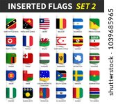 all flags of the world set 2 .... | Shutterstock .eps vector #1039685965
