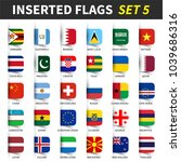 all flags of the world set 5 .... | Shutterstock .eps vector #1039686316