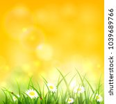 spring or summer yellow natural ... | Shutterstock .eps vector #1039689766