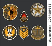 set of military and army badge... | Shutterstock .eps vector #1039689955