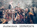 fun in motion. group of... | Shutterstock . vector #1039692676