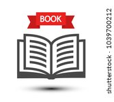 open book icon. vector reading... | Shutterstock .eps vector #1039700212