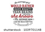 The Average Girl Would Rather...