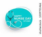 nurse day greeting cad design... | Shutterstock .eps vector #1039701466