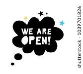 we are open   vector cute... | Shutterstock .eps vector #1039701826