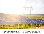 outdoor solar photovoltaic... | Shutterstock . vector #1039710076