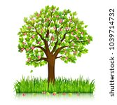 spring nature background with... | Shutterstock .eps vector #1039714732