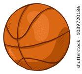 vector single cartoon orange... | Shutterstock .eps vector #1039720186