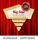 retro light frame. big sale.... | Shutterstock .eps vector #1039720342