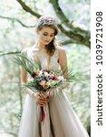portrait of a beautiful bride....   Shutterstock . vector #1039721908