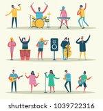 vector background in a flat... | Shutterstock .eps vector #1039722316