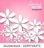 beautiful background with white ... | Shutterstock .eps vector #1039726372