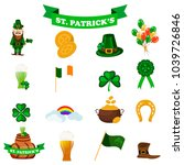 st. patrick s day icons. vector ...   Shutterstock .eps vector #1039726846