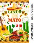 cinco de mayo fiesta... | Shutterstock .eps vector #1039727308