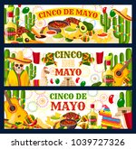 cinco de mayo mexican holiday... | Shutterstock .eps vector #1039727326